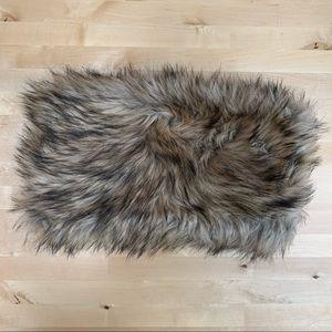 NWT LOFT Oversized Faux Fur Snood Scarf